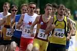 Mistrovství ČR v atletice v Táboře. 1500 m muži finále. Vítěz Milan Kocourek vedl od začátku celý závod