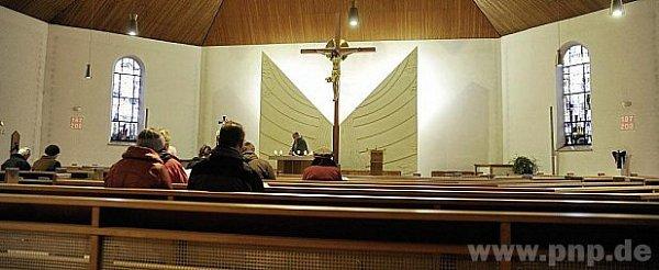 Vtýdnu jsou bavorské kostely skoro prázdné.