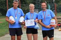 Na turnaji v beachvolejbale triumfovali členové Hasičského záchranného sboru Jihočeského kraje I.