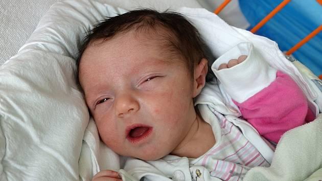 Sophia Šťastná spatřila poprvé svět v pondělí 10. 4. 2017 v 8.32 h. Maminka  Jitka Šťastná si 2,79 kg vážící holčičku odvezla domů do Římova.