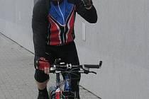 František Ptáček vyráží na první cyklistickou etapu