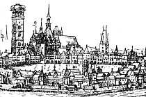 KDYSI: Prašná věž v Kanovnické ulici na kresbě z roku 1602.