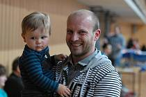 Michal Sládeček zavítal na zápas Jihostroje s Příbramí i se synem Filípkem. Od pondělí je hráčem Zlína a soupeřem Českých Budějovic.