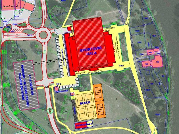 Studie podle nichž by se měla rekonstruovat Všesportovní hala v Českých Budějovicích.