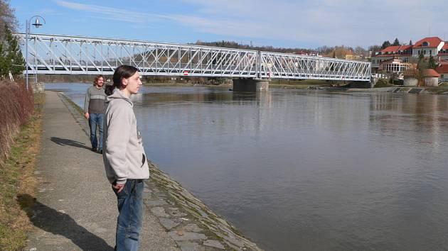 Most v Týně nad Vltavou.