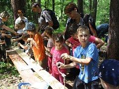 ŘEMESLA. V rámci tradičního Pohádkového lesa v Rudolfově si děti na trase mohly vyzkoušet jednadvacet různých řemesel.