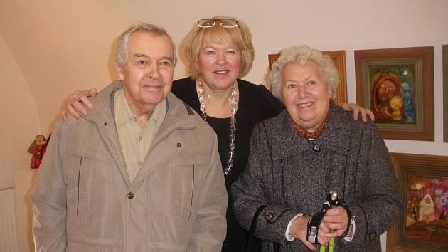 Malířka Renata Klogner Štolbová tráví vánoční svátky s rodiči.
