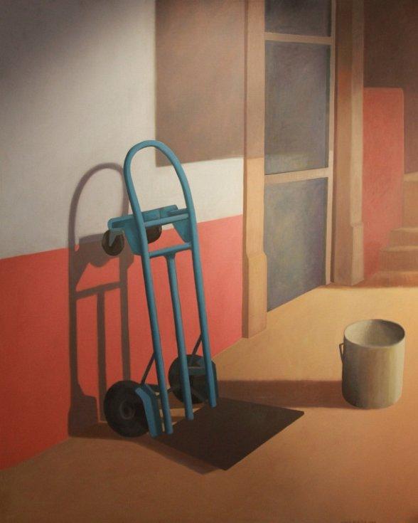 Antonín Střížek se představuje ve Wortnerově domě Alšovy jihočeské galerie. Jeho dílo mluví barvami, humorem i jasným sdělením.