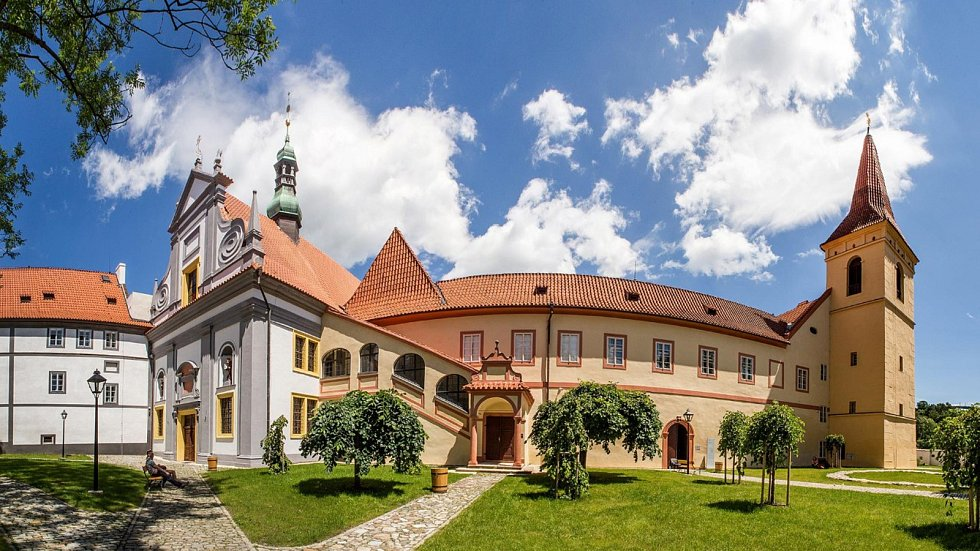 Pohled na Český Krumlov.
