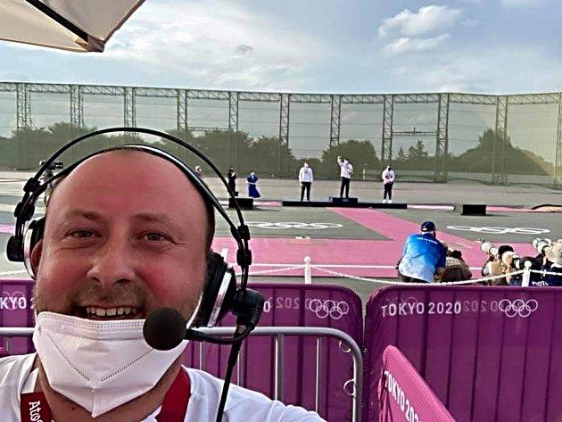František Kuna se pohybuje vTokiu po sportovištích