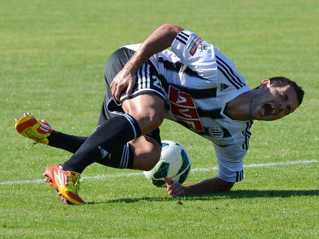 Martin Vyskočil měl v zápase s Vltavínem vydařený debut.  ve sv