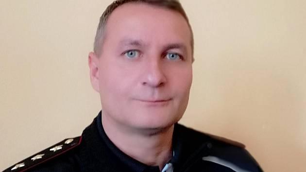 Npor. Bc. Michal Kauca, vedoucí obvodního oddělení policie v Týně nad Vltavou.