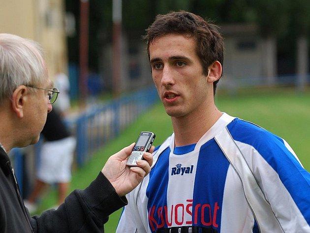 Michal Repa ve Strakonicích po divizi s Hořovickem (1:0) odpovídá na dotazy Deníku.