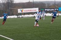 Fotbalisté Táborska po výhř s Brnem porazili i Znojmo 4:1 (z tohoto utkání je tento snímek) a v Tipsport lize prohráli až ve svém posledním utkání s prvoligovou Nitrou.