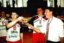 Bývalý trenér Jihostroje Milan Žák (vpravo).