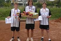 Dynamo vybojovalo bronz (zleva):  Chalupa, Fík, Sliacký.