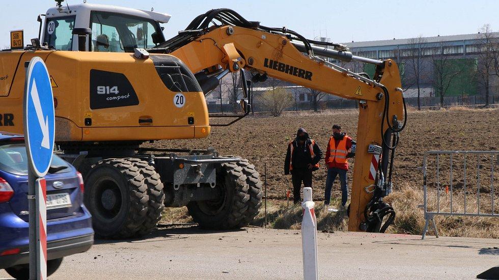 Rekonstrukce kruhového objezdu v Litvínovicích