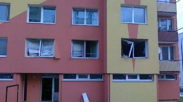 Výbuch bytu v Týně nad Vltavou.