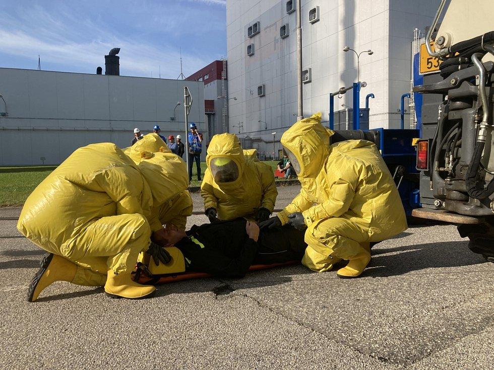 V Temelíně cvičili reakci na dopravní nehodu při přepravě jaderného paliva.