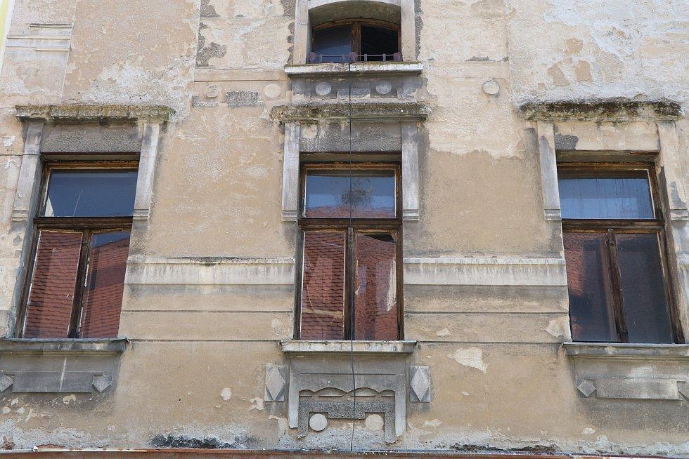 Hroznová ulice v centru Budějovic