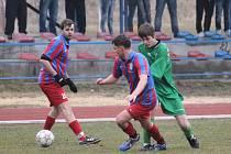 Fotbalisté Čtyř Dvorů porazili ve své jarní premiéře Lišov 3:1 a útočí na čelo I.A.
