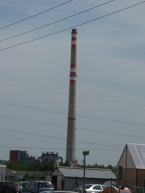 Nejvyšší českobudějovický komín stojí na Okružní vNovém Vrátě.