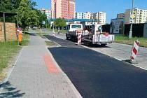 Nová parkovací místa v ulici Václava Talicha.