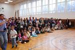 První školní den v ZŠ Lišov.