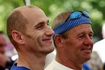 Spokojení vítězové Petr Bícha (vlevo) a Miroslav Helebrant.