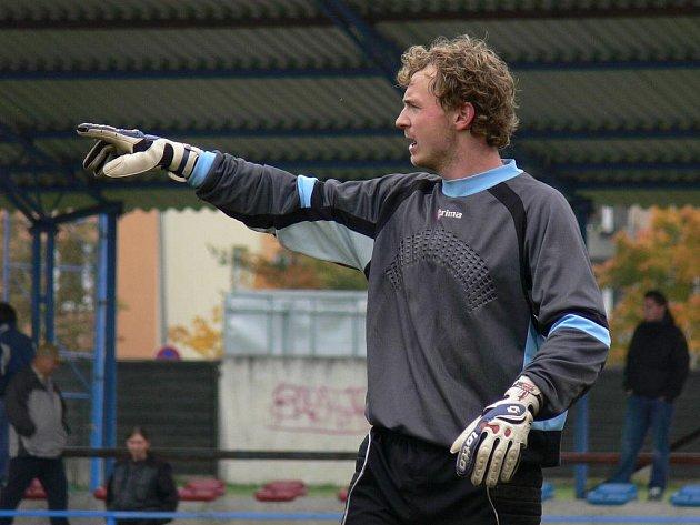 Brankář SK Čtyři Dvory Navrátil se stal posilou, která se týmu na podzim vyplácí.