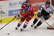 Ve druhém utkání extraligového play out udolali hokejisté HC Mountfield Znojmo 3:2.