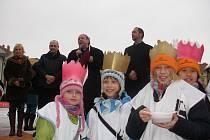 Koledníkům v Českých Budějovicích požehnal i biskup Pavel Posád.