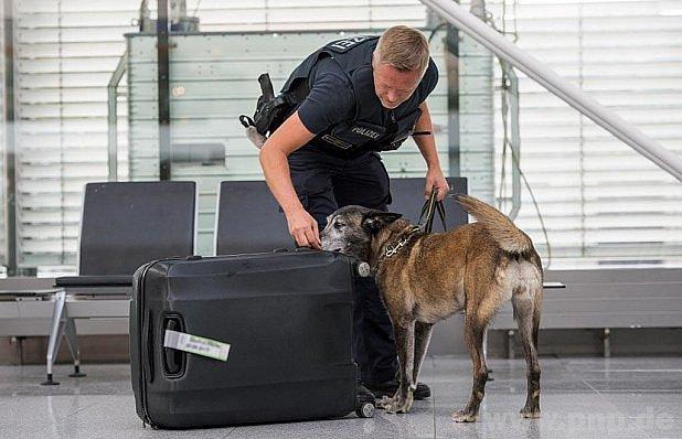 Podezřelý kufr na letišti.