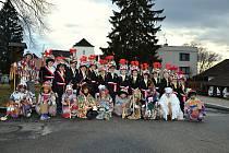 Do Masopustu v Nových Hradech se zapojily i děti.