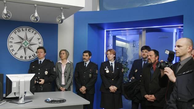 Nové policejní centrum v pondělí otevřeli zástupci policie v Č.  Budějovicích.