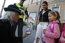 Na chodce v Českých Budějovicích dohlížela také Regina Tupá.