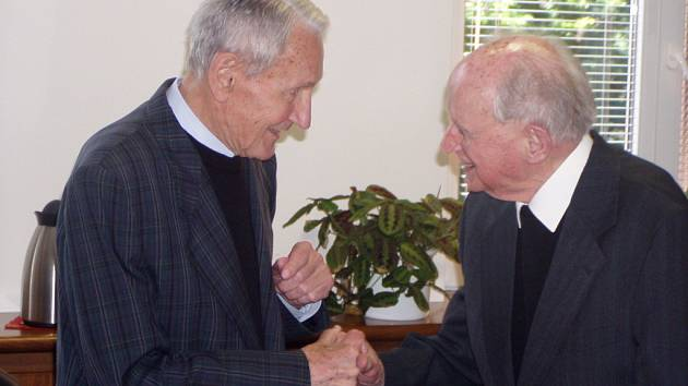 Václav Dvořák s Josefem Kavelem.