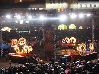Zakončení oslav výročí města na náměstí Přemysla Otakara II.