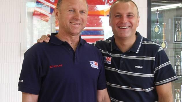 Jiří Lála (vlevo) spolu s Robertem Reichlem.