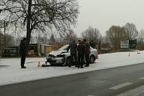 Nehoda na silnici Č. Budějovice - Písek.