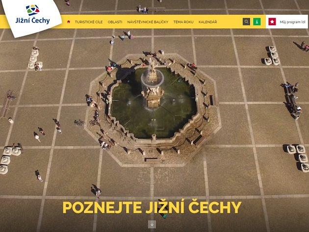 Nový web láká turisty na jih Čech.