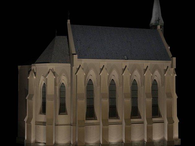 Kostel Sv. Rodiny u Senovážného náměstí osvítí celkem 31 světel.