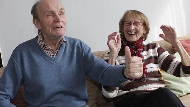 Ochotníci František  a Helena Stráských z Trhových Svinů se vzali v roce 1954.