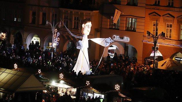 Andělé na náměstí v Českých Budějovicích