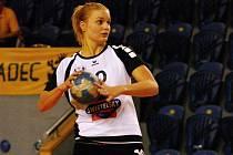 NENUDÍ SE. Barbora Eliášová hraje I. ligu v Jindřichově Hradci a interligu ve Veselí.