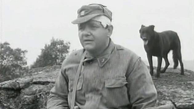 Záběr z filmu Černý vlk, který se natáčel na Šumavě.