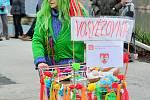 Masopustní obchůzka masek Podskalím v Týně nad Vltavou.
