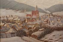 Prachatické muzeum připomíná historii města, jež slaví 700 let od první písemné zmínky jako o městě. Na snímku Na snímku Prachatice v zimě, 30. léta 20. století, autor Vojta Churaň.