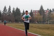 Běh na jeden kilometr je součástí fyzických testů pro zájemce o práci u policie. Zkoušku včera podstoupilo sedm mužů.