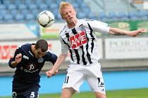 Michal Petráň byl v pondělní lize juniorů s Teplicemi jedním z nejlepších hráčů Dynama.